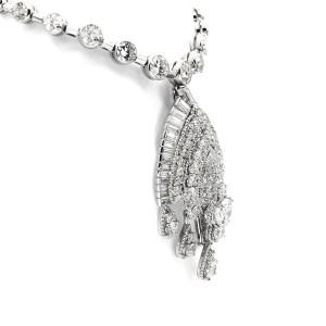 Van Cleef & Arpels Diamond Platinum Convertible Pendant Necklace