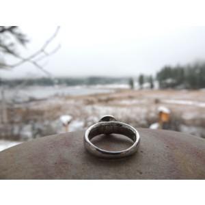 Gurhan Platinum Soilitaire Blue Sapphire Cobochon Ring