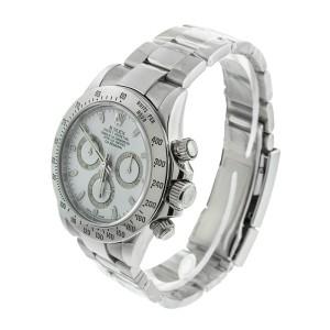 Rolex Stainless Steel Daytona White Dial Watch