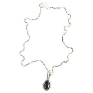 David Yurman Sterling Silver and Blue Topaz Hampton Necklace