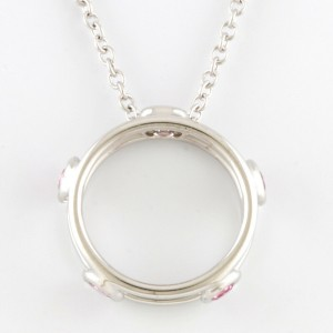 TIFFANY&Co. 18K white gold Pink sapphire Necklace