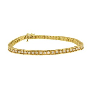 Elegant 14k Yellow Gold Diamond bracelet