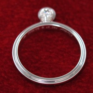 Cartier 18K White Gold Ring Size 4