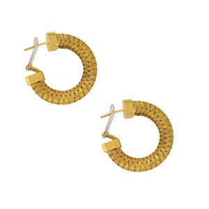 Roberto Coin 18k Yellow Gold Woven Hoop Earrings