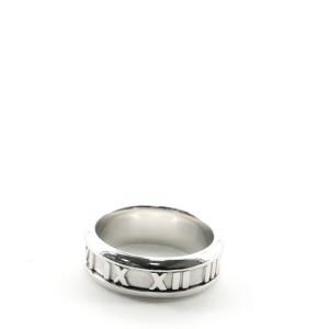 Tiffany & Co. Atlas Band Ring 18K White Gold