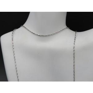 Milor 14K White Gold Diamond Cut Chain Necklace