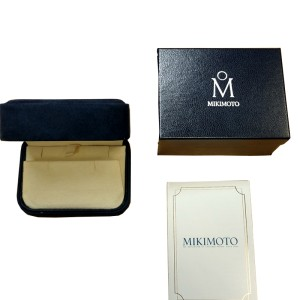 Mikimoto 18K White Gold Tahitian Pearl & Diamond Earrings