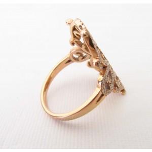 Diane Kordas 18K Rose Gold with 0.76ct. Diamond Ring Size 6.5