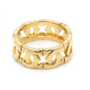 Cartier 18K Yellow Gold 2C Entrelaces Ring