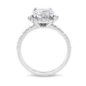 14k White Gold 2.41ct. Diamond Halo Engagement Ring Size 7
