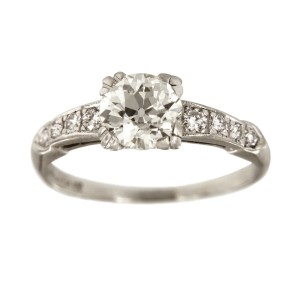 Platinum with 1.14ctw. Diamond Engagement Ring Size 6.5