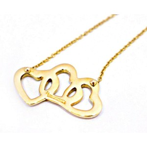 Tiffany co 18k yellow gold triple heart pendant necklace 18k yellow gold triple heart pendant necklace aloadofball Images