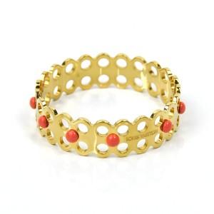 Louis Vuitton Gold Tone Metal Bangle Bracelet
