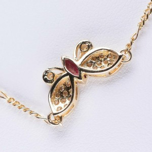 Butterfly 18k yellow gold Necklace