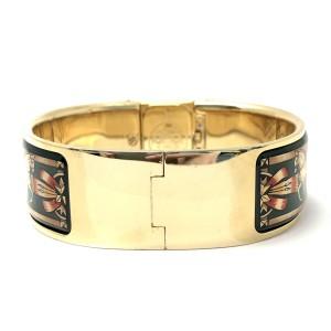 HERMÈS LOQUET 18K Gold-Plated Ladies Bracelet Watch