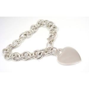 Tiffany & Co. Sterling Silver Heart Tag Charm Bracelet