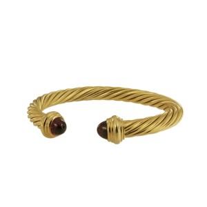 David Yurman Cable Bracelet 7mm with Garnet