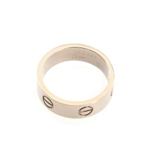 Cartier Love Wedding Band Ring 18K White Gold 8 - 57