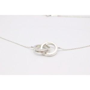 Tiffany & Co. Sterling Silver 1837 Interlocking Circles Pendant Necklace