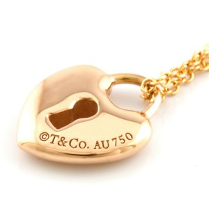 TIFFANY&Co. 18K Pink Gold Heart key lock Necklace CHAT-366