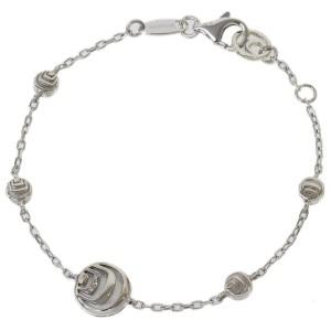 Damiani 925 Sterling Silver Diamonds & Shell Chain Bracelet