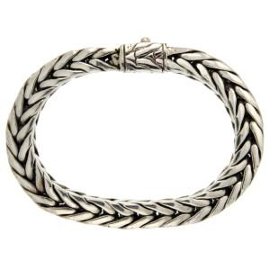 John Hardy 925 Sterling Silver Woven Chain Bracelet
