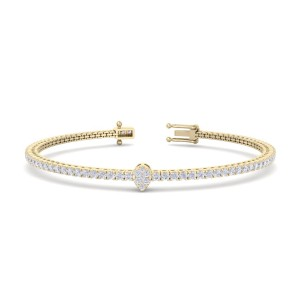 GLAM ® Tennis bracelet  in 14K Gold and 1.77ct White Diamonds