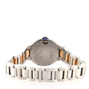 Cartier Ballon Bleu de Cartier Automatic Watch Stainless Steel and Rose Gold with Diamond Markers 33