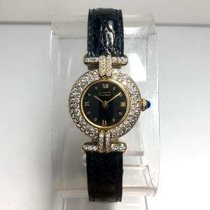 MUST De CARTIER COLISÈE Quartz GoldPlated Argent Ladies Watch