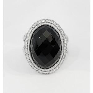 David Yurman  Signature Oval Collection Black Onyx/Diamond