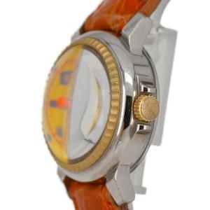 Ritmo Latino Date yellow Dial SS/Leather Quartz Boy's Watch