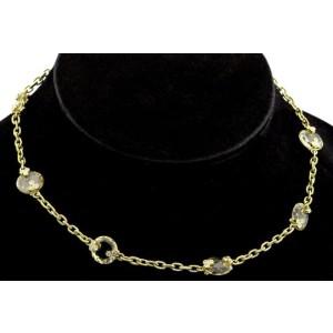 Judith Ripka Yellow 18k Gold 33g Citrine Crystal Diamond Necklace
