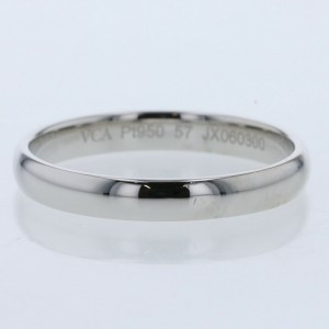 Van Cleef & Arpels Platinum Tandremon Marriage Ring