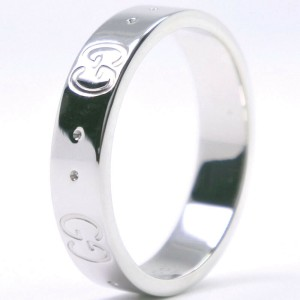 GUCCI 18k white gold icon Ring NST-329
