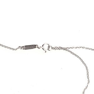 Tiffany & Co. T Smile Pendant Necklace 18K White Gold with Diamonds Mini