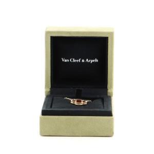 Van Cleef & Arpels Vintage Alhambra Pendant Necklace 18K Yellow Gold and Carnelian