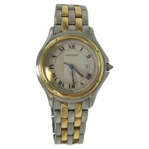 Cartier Cougar Panthere W187904 33mm Mens Watch