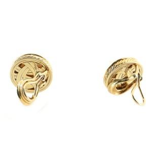 David Yurman Cerise Clip-On Earrings 18K Yellow Gold with Pearl and Diamonds