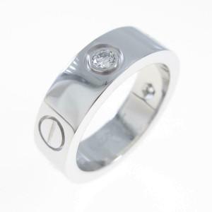 Cartier 18K White Gold Love Half Diamond ring TkM-118