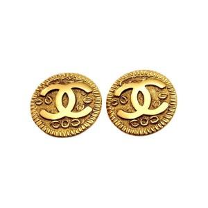 Chanel Gold Tone Metal Earring