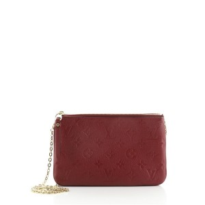 Louis Vuitton Double Zip Pochette Monogram Empreinte Leather