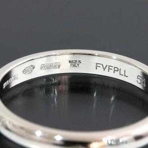 Bvlgari Bulgari Fedi Wedding Band Ring Platinum PT950 US7