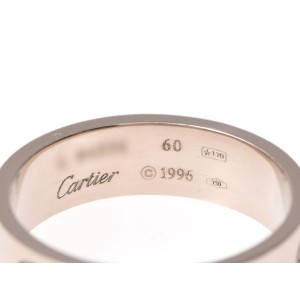 Cartier 18K White Gold Love Ring Size 9