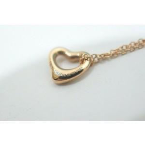 Tiffany & Co. 18K Rose Gold Elsa Peretti Mini Open Heart Pendant Necklace