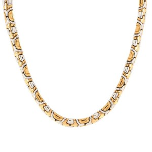 Bvlgari Alveare Choker Necklace 18K Yellow Gold and 18K White Gold