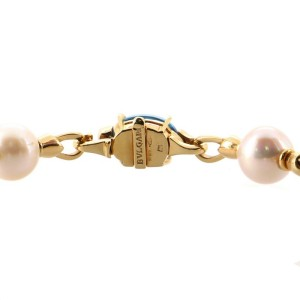 Bvlgari Allegra Station Chain Link Bracelet 18K Yellow Gold with Gemstones, Pearls and Diamonds