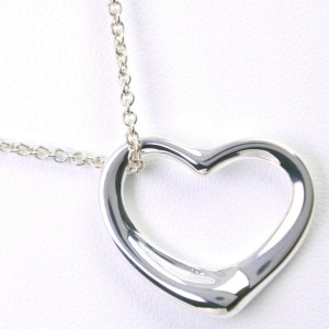 TIFFANY&Co Silver925 Open heart Necklace