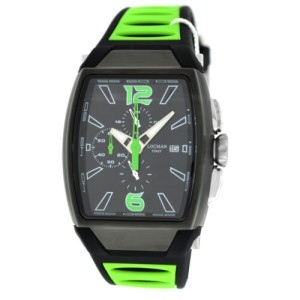 Locman Tremila Ref 550 Chronograph Men Titanium Green PVD Quartz 38MM New Watch