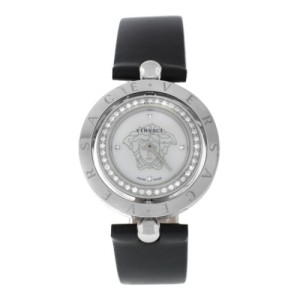 Versace EON 79Q91SD497 S009 Steel Diamond Quartz 33MM MOP Watch