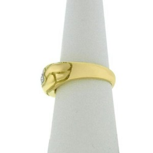 New Damiani Model: TB32916 18K Yellow White Gold Size 6.75 Diamond $1,860 Ring